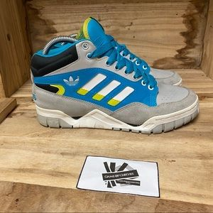 Adidas High top blue grey black sneakers shoes